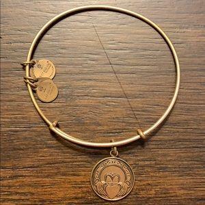 Alex and Ani Claddagh Bracelet Gold